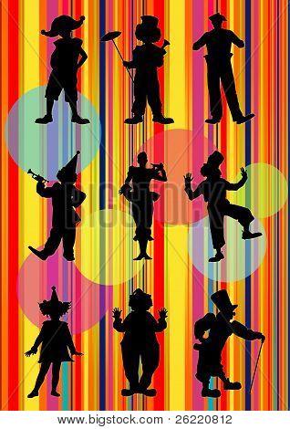 Nine Clowns