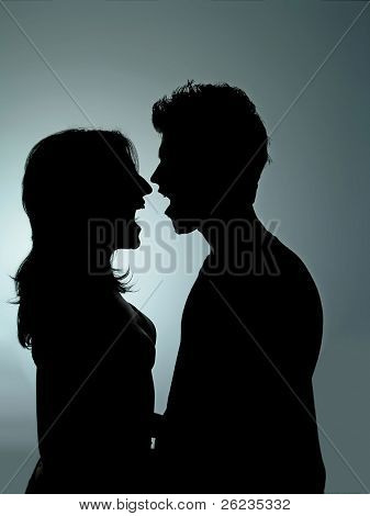 Two People in Silhouete