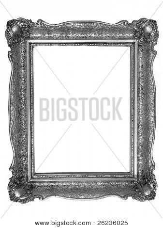 classical old-fashion retro silver frame,
