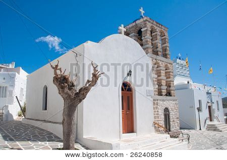 Ancient church in Paros,  Cyclades in Greece