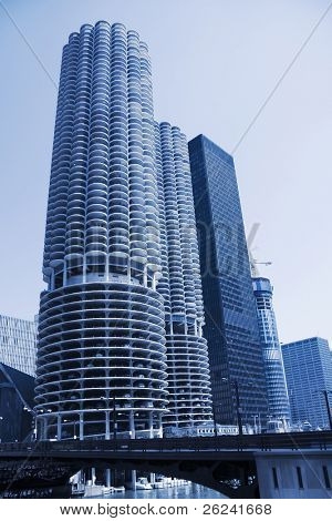 Highrise condominium buildings in downtown Chicago, IL