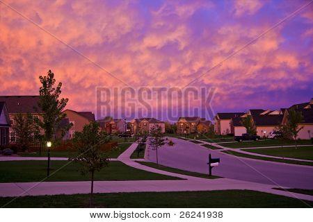 Abend Vorstadt