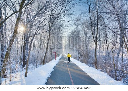 Winter morning exercise