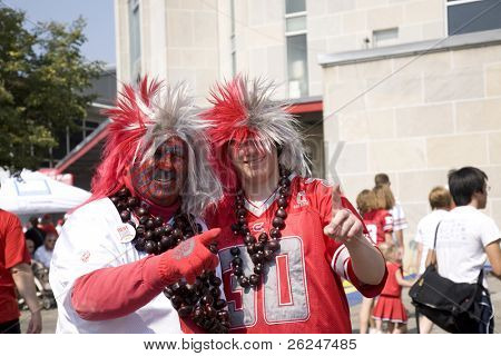 Extreme fans at an Ohio State football game