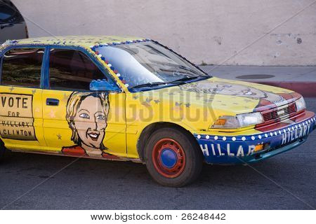 Campaign car for Hillary Clinton