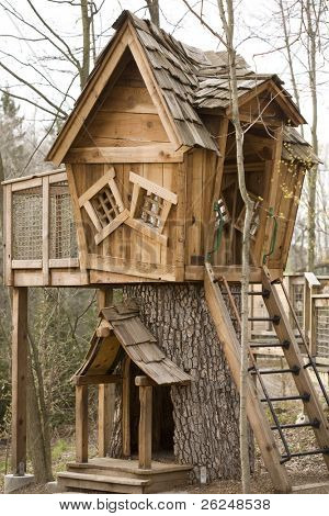 Adorable treehouse in the woods
