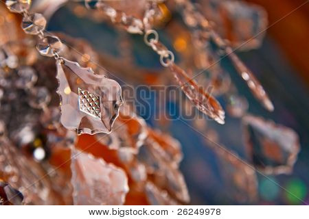 beautiful crystal from a chandelier for a decorative background