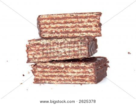 Biscuits Covered With Black Chocolate