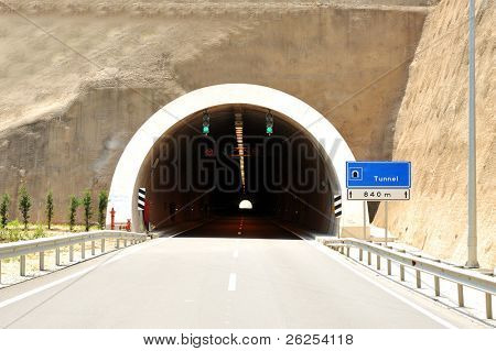 Auto tunnel, high speed road