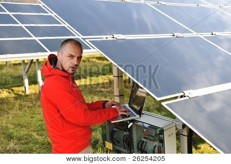 Solar panels energy field