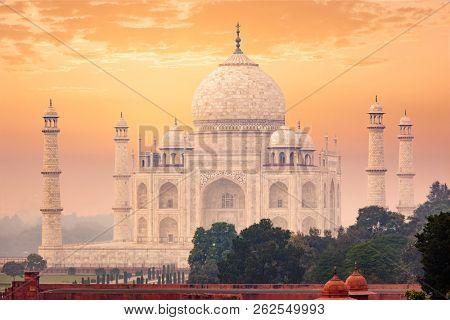 Taj Mahal on sunset Indian
