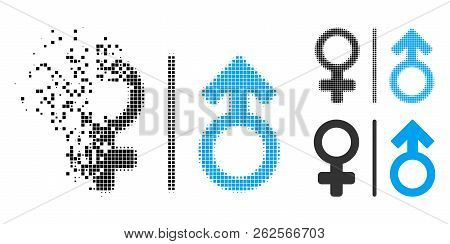 Wc Gender Symbols Icon In