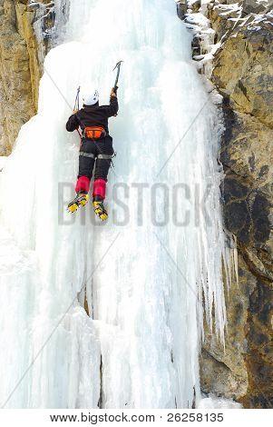 Climbing A Frozen Waterfall