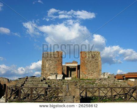 Buildings of an ancient Roman city Pompeii