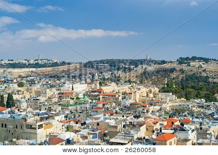 Jerusalem, aerial view