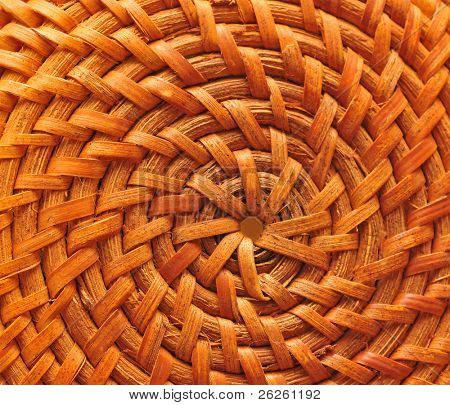 circular basketry handmade natural asian background