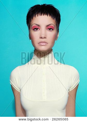 Lady On Bright Background