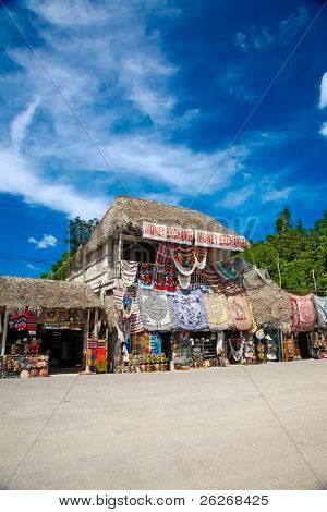 Market place at Mayan ruins in Coba, Mexico