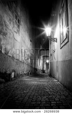 mysterious narrow alley