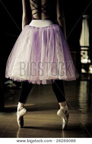 ballet dancer on her toes
