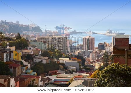 view on Valparaiso, Chile