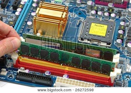 Installing computer ram on a motherboard
