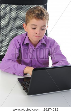 boy at the computer