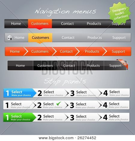 Web designers toolkit - navigation menus and step panels part 3