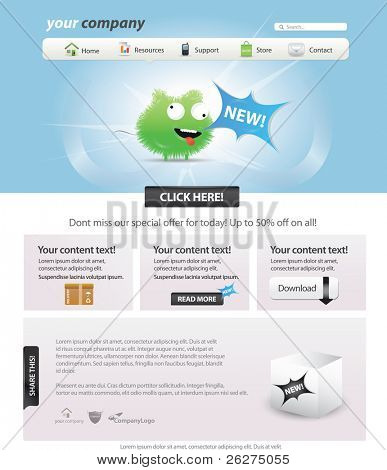 Web 2.0 template - glossy candy look