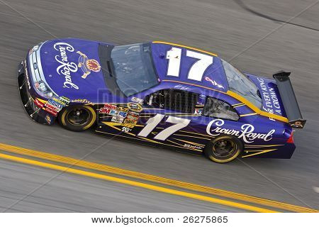 DAYTONA BEACH, FL - FEB 4:Matt Kenseth brings out his Crown Royal Ford for a practice session for the Budweiser Shootout at the Daytona International Speedway Feb 4, 2010 in Daytona Beach, FL