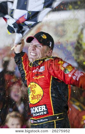 DAYTONA BEACH, FL - FEB 14:  Jamie McMurray wins the 52nd Annual Daytona 500 race at the Daytona International Speedway Feb 14, 2010 in Daytona Beach, FL.