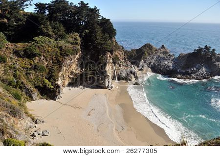 The Beach at McWay Falls in Big Sur, California