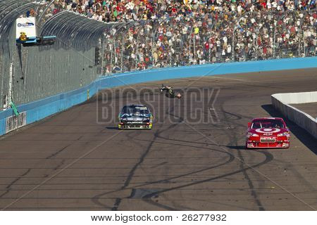 AVONDALE, AZ - NOV 14:  For the second time in as many days, Carl Edwards wins the Kobalt Tools 500 race on Nov 14, 2010 at the Phoenix International Raceway in Avondale, AZ.