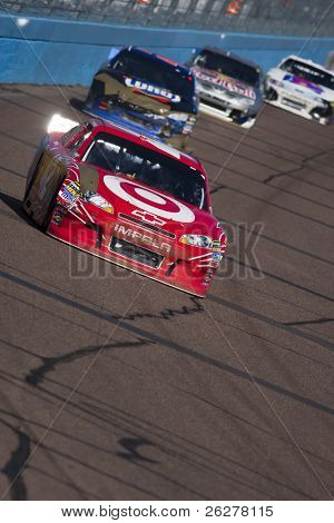 AVONDALE, AZ - FEB 27: Juan Pablo Montoya (42) drives his Target Chevrolet during the Subway Fresh Fit 500 race at the Phoenix International Raceway in Avondale, AZ on Feb 27, 2011.