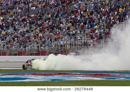 HAMPTON, GA - SEPT 06:  Jeff Gordon (24) wins the  Advocare 500 race at the Atlanta Motor Speedway in Hampton, GA on Sep 06, 2011.