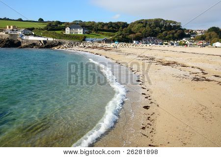Swanpool Beach, Falmouth Cornwall UK.