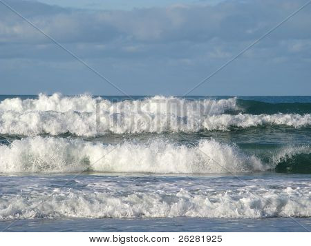 Big Atlantic waves, Chapel Porth, Cornwall UK.
