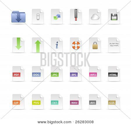 Documents and Folder Icon Set