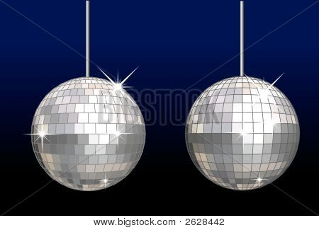Vector Disco Balls Set