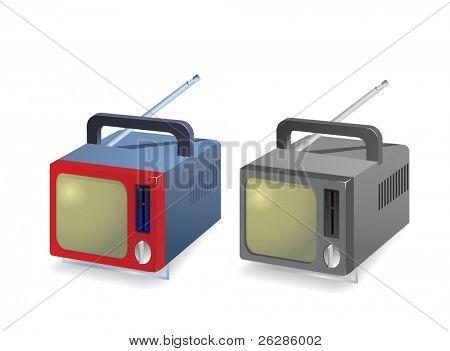 retro portable tvset