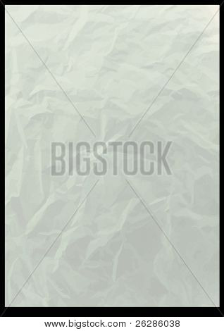 old crushed vector paper background