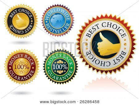 set of 5 detailed best label