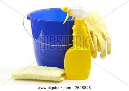 Bucket And A Spray Bottle