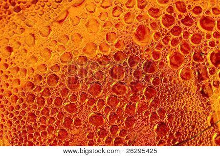 viele kleine Blasen in rot / orange Farben