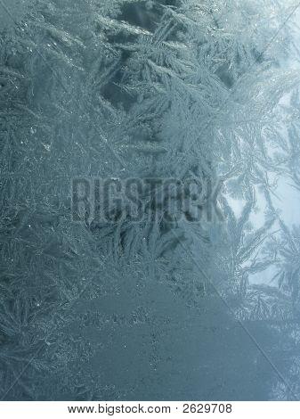 Frozen Ice On Glass