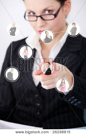 Business social network connection.