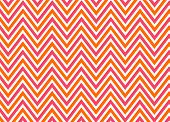 Bright Chevron Red, Orange And White, Vector Pattern.