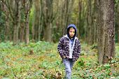 Small Hipster. Small Boy Travel In Autumn Woods. Small Boy Look More Hipster Than Homeless. Because  poster