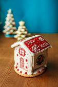 Gingerbread House. Christmas Holiday Sweets. European Christmas Holiday Traditions. Christmas Ginger poster
