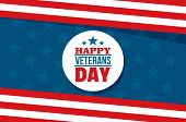 Happy Veterans Day Concept Background. Flat Illustration Of Happy Veterans Day Vector Concept Backgr poster